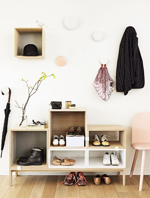 <p>We're addicted to the idea of decluttering. Entire stores, books and websites are dedicated to helping us organize our stuff. </p><p><strong>DESIGN IDEA: Decorate with storage solutions.</strong> <br>From playful hooks to chic modular units, there's no need to hide your organizers in the closet (or even have a closet!).</p>