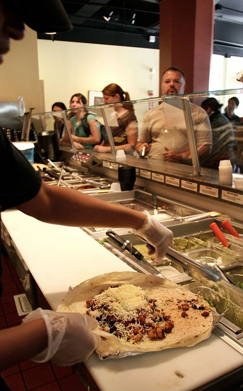 Qdoba food being prepared