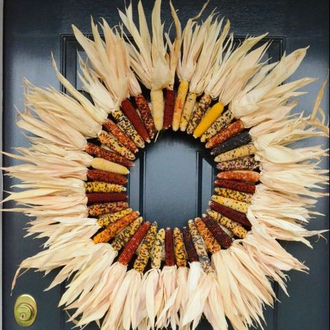 Fall Wreaths Indian Corn Wreath
