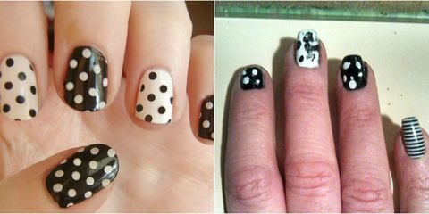 If you ever want to feel better about your own manicure skills, just look  at these. - 26 Epically Funny Pinterest Manicure Fails — Pinterest Nail Art Fails