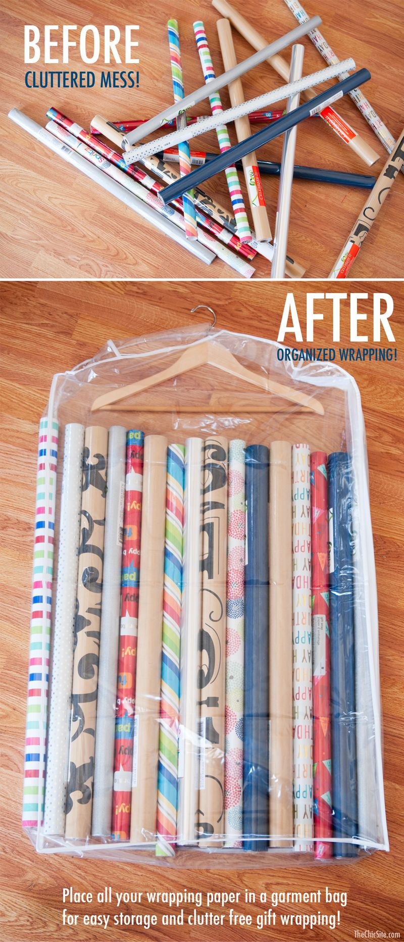 How To Organize Wring Paper 15 Gift Wrap Organization Ideas