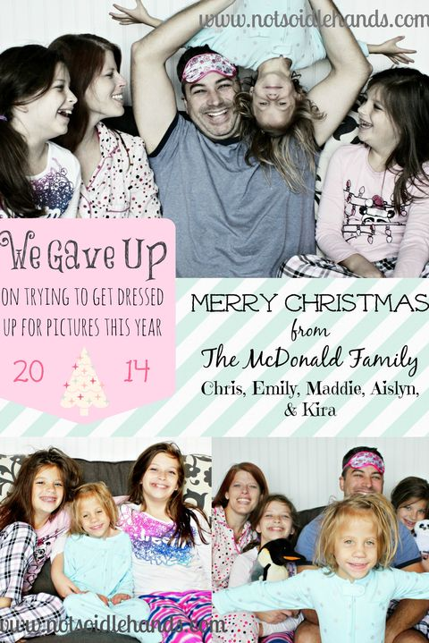 Funny Christmas Card Ideas Pajama