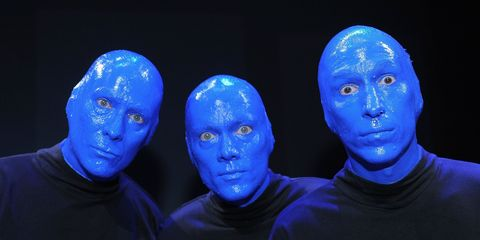 What The Blue Man Group Looks Like Without Face Paint