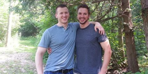 Adam and Matthew Chaffee in 2014, shortly before the first accident