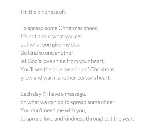 Kindness Elf Poem