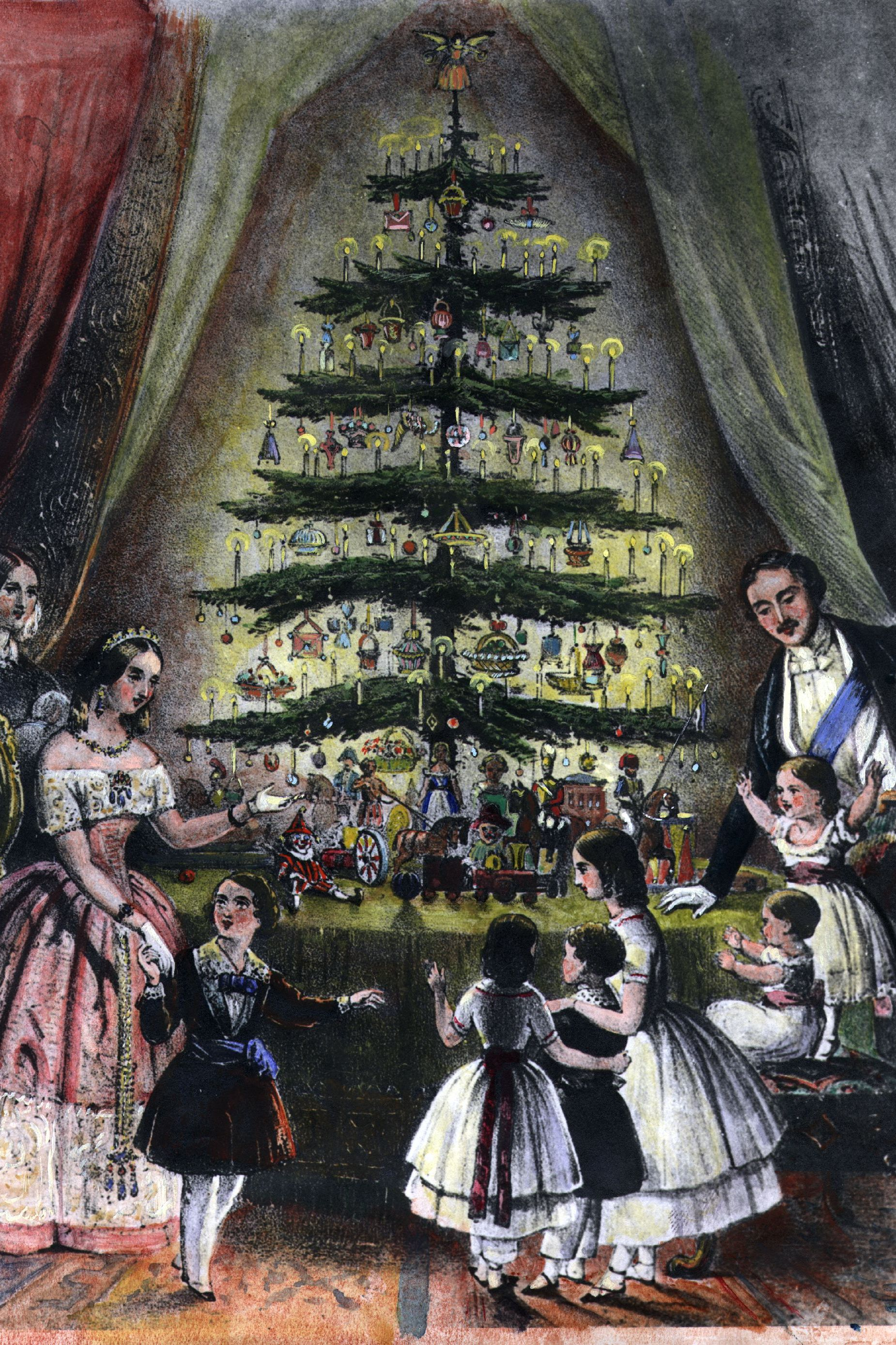 queen victoria and prince albert christmas tree - christmas fun facts