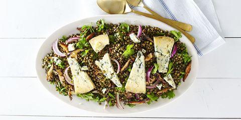 1215_ghk_Warm Wild Mushroom Lentil Salad