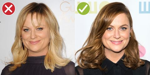 """<p>Spaces between your bangs = a whole slew of uncomplimentary adjectives, such as """"scraggly"""" or """"stringy."""" No one's asking you to go for a whole-forehead-obscuring blunt bang, but wispy is never the way to go. </p>"""