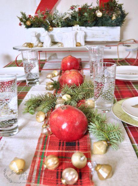 Natural Holiday Table