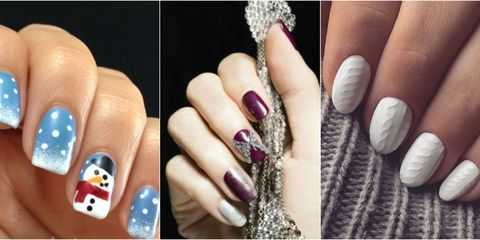 Plus, try our best Christmas nail designs! - 16 Winter Nail Art Ideas — Designs For New Year's And Holiday Nails