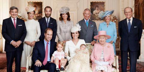 Royals at Princess Charlotte christening