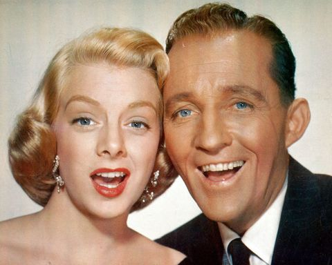 rosemary clooney and bing crosby cheek to cheek in a scene from the film white - Where Was White Christmas Filmed