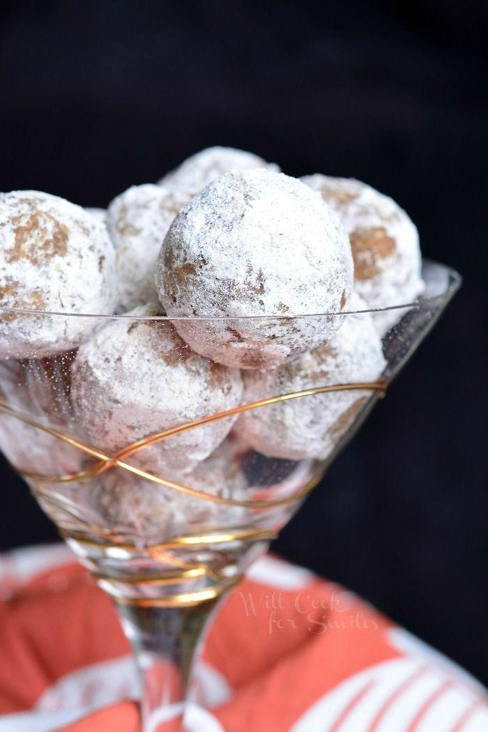 Pumpkin Spice Rum Balls - Christmas Cookies