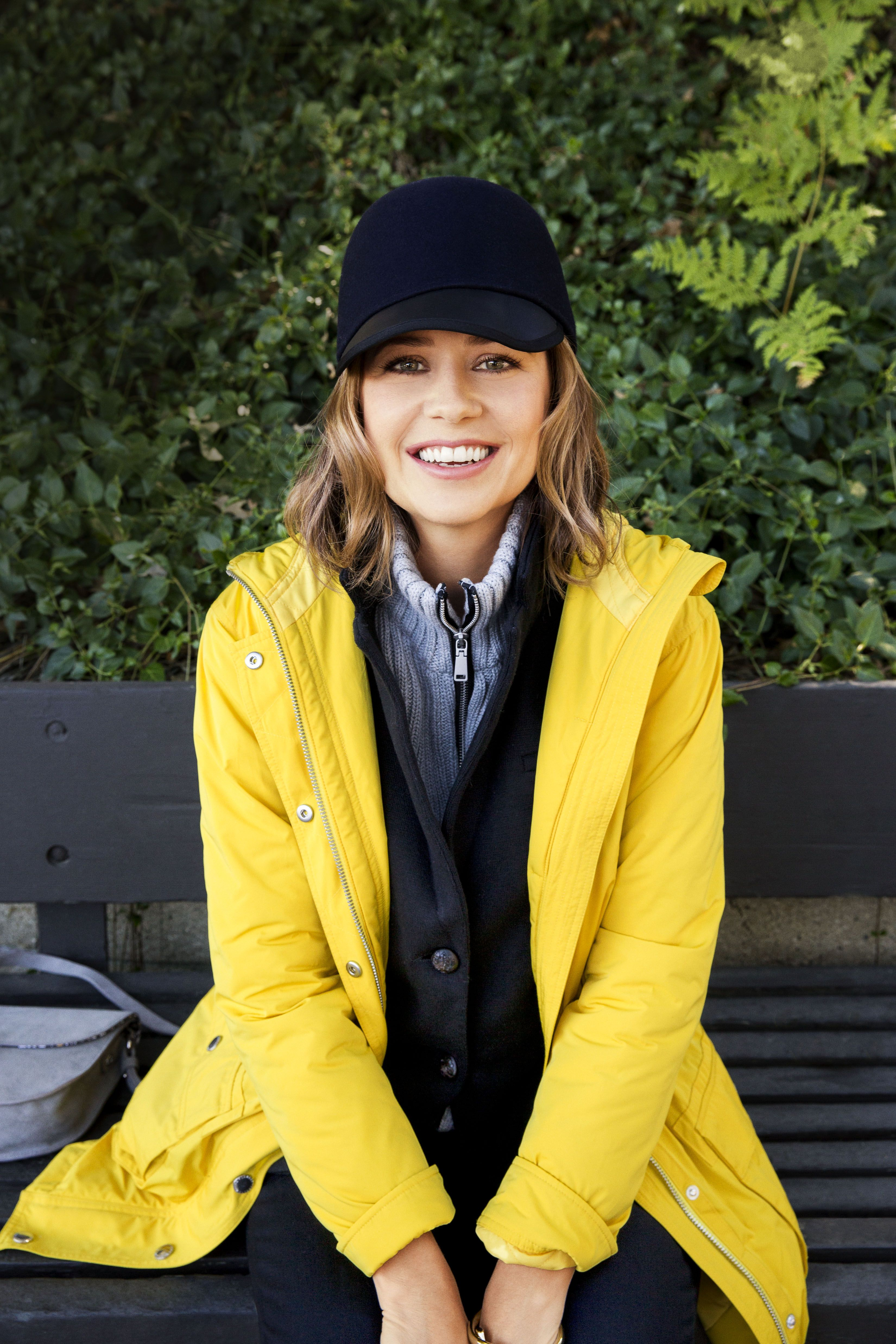 """<p>When the weather is dreary, your style forecast calls for something cheery — like this slick jacket. Hello, yellow! </p><p><em>Anorak, Lauren Ralph Lauren, $298, <a href=""""http://bloomingdales.com"""" target=""""_blank"""">bloomingdales.com</a>; Blazer with sweater, $270, <a href=""""http://525america.com"""" target=""""_blank"""">525america.com</a>. <strong>Under $100:</strong> Hat, Genie by Eugenia Kim, $80, <a href=""""http://anthropologie.com"""" target=""""_blank"""">anthropologie.com</a>.</em></p>"""