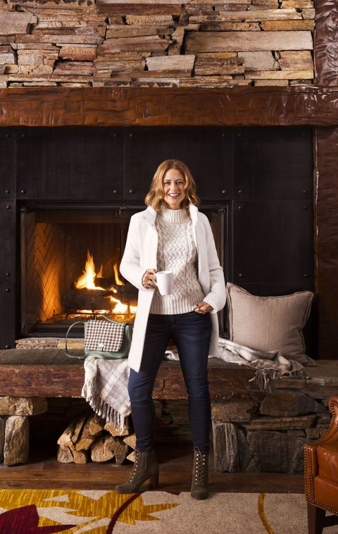 "<p>A creamy, dreamy piece is your sweater-weather essential. Look for, yes, sweaters, plus hats, socks and scarves, in the classic Irish Aran knit. </p><p><em>Coat, $188, <a href=""http://loft.com"" target=""_blank"">loft.com</a>; Boots, Tommy Hilfiger; $139, <a href=""http://macys.com"" target=""_blank"">macys.com</a>; Purse, $168, <a href=""http://bodenusa.com"" target=""_blank"">bodenusa.com</a>. <strong>Under $100:</strong> Sweater, $60, <a href=""http://hm.com"" target=""_blank"">hm.com</a>; Jeans, $17, <a href=""http://forever21.com"" target=""_blank"">forever21.com</a>; Ring, $39, <a href=""http://capwell.co"" target=""_blank"">capwell.co</a>; Gold ring, $88, <a href=""http://melindamaria.com"" target=""_blank"">melindamaria.com</a>.</em> </p><p><em><strong>On location: Lobby Lounge, <a href=""http://www.lakearrowheadresort.com/"" target=""_blank"">Lake Arrowhead Resort and Spa</a></strong>. Nestled into the mountainside on the shores of Lake Arrowhead, a two-hour drive from Los Angeles, this scenic spot is perfect for a quiet, low-key escape. Hike all year among fragrant pine trees, get pampered in the rustic spa or catch up on your reading on the lakeside decks.</em></p>"