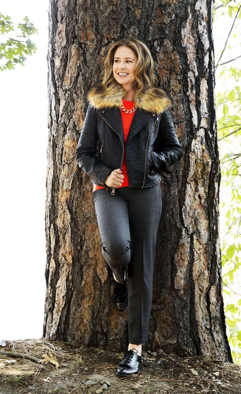 "<p>Menswear-inspired flats are as comfy as they are chic (and you won't find studs on his)! </p><p><em>Shoes, $260, <a href=""http://tedandmuffy.com"" target=""_blank"">tedandmuffy.com</a>; Jacket with faux-fur collar, Marc New York, $159, <a href=""http://andrewmarc.com"" target=""_blank"">andrewmarc.com</a>; Ring, $162, <a href=""http://goldphilosophy.com"" target=""_blank"">goldphilosophy.com</a>. <strong>Under $100:</strong> Sweater, $19, <a href=""http://forever21.com"" target=""_blank"">forever21.com</a>; Pants, $49, <a href=""http://loft.com"" target=""_blank"">loft.com</a>; Necklace, $95, <a href=""http://rjgraziano.com"" target=""_blank"">rjgraziano.com</a>.</em></p>"