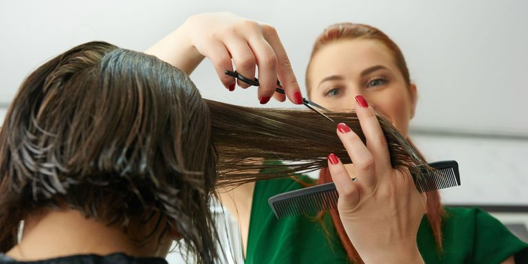 Is cutting hair wet or dry better why you shouldnt cut wet thin getty images solutioingenieria Image collections