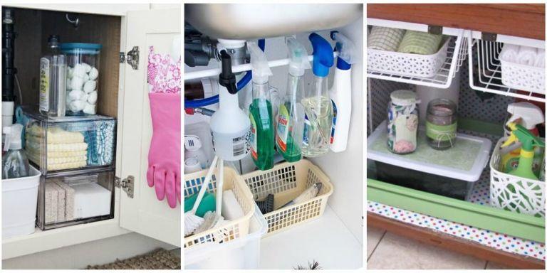 Under The Sink Organization Bathroom And Kitchen Organizing Tips