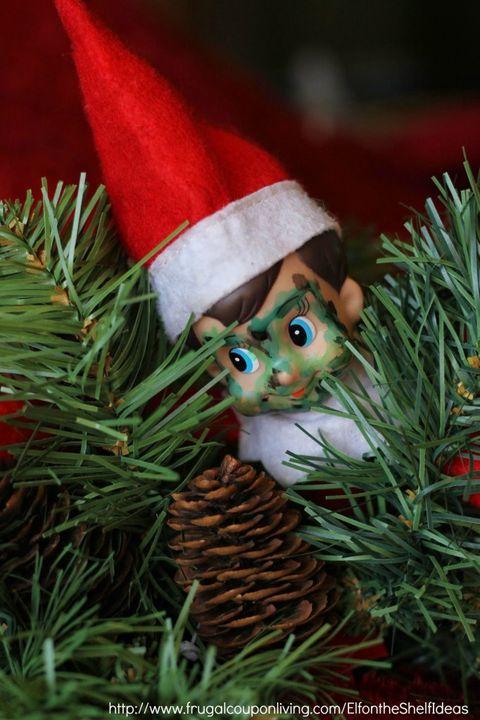 camo elf on the shelf