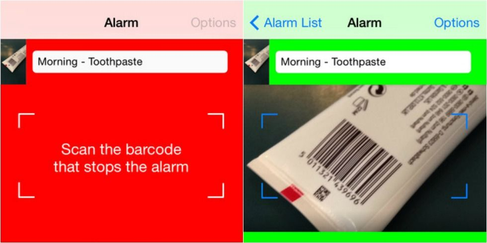 The Barcode Alarm Clock App Makes It Impossible To Sleep In
