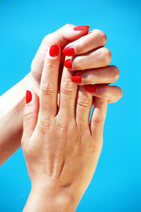 Finger, Skin, Hand, Joint, Nail, Nail care, Wrist, Thumb, Manicure, Close-up,