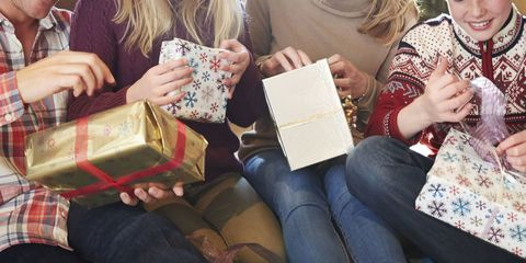 Family Opening Gifts at Christmas