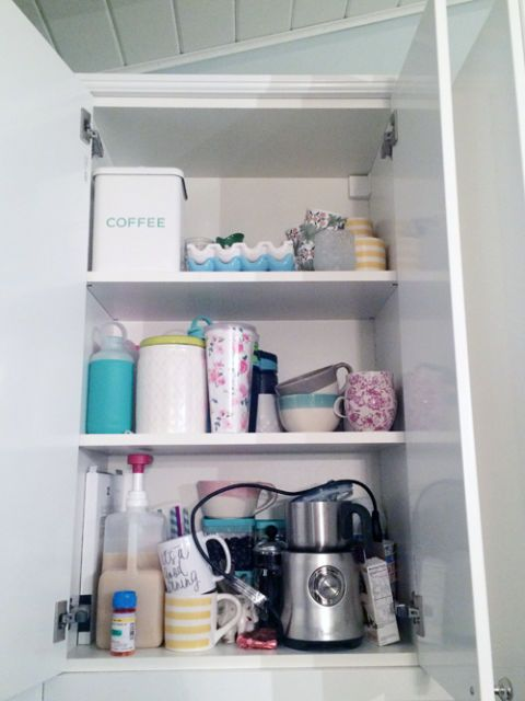 Shelving, Room, Shelf, Purple, Turquoise, Teal, Aqua, Grey, Small appliance, Kitchen appliance,