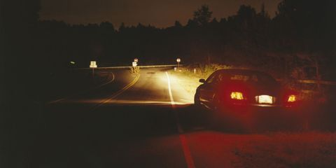 Dark Road and Car