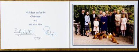 royal family christmas card 1998 - Royal Family Christmas Card