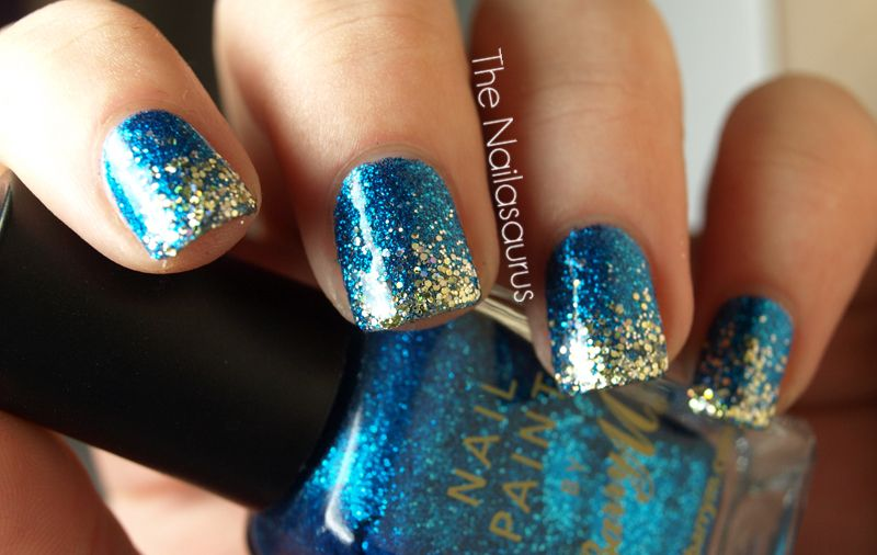20 Glitter Nail Art Ideas Tutorials For Glitter Nail Designs