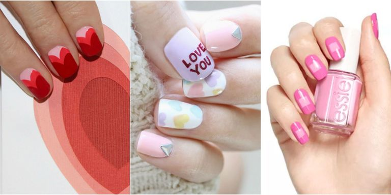 Wear your heart on your nails with one of these super-sweet manicure  designs. Bold shapes, sugary hearts and that classic red and white color  palette will ... - 25 Best Valentine's Day Nails - Hot Nail Art Design Ideas For