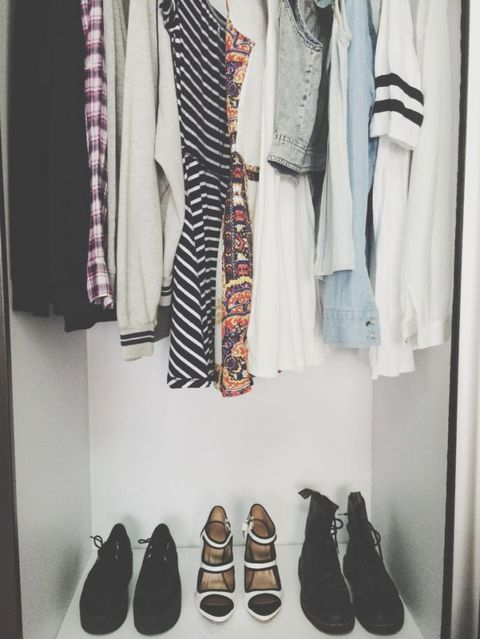Brown, Textile, White, Clothes hanger, Fashion, Black, Tan, Collection, Retail, Closet,