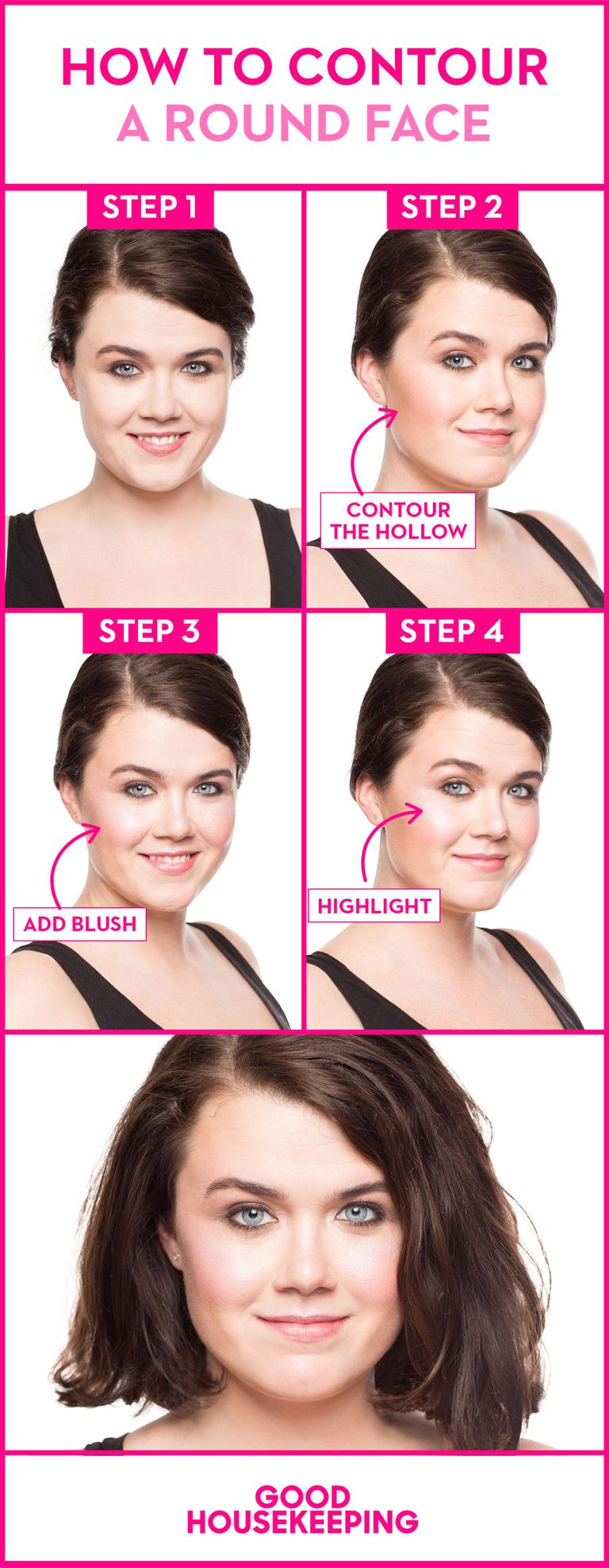 How to slim a round face in 3 easy steps using blush to add kathryn wirsingdesigned by dana tepper baditri Gallery