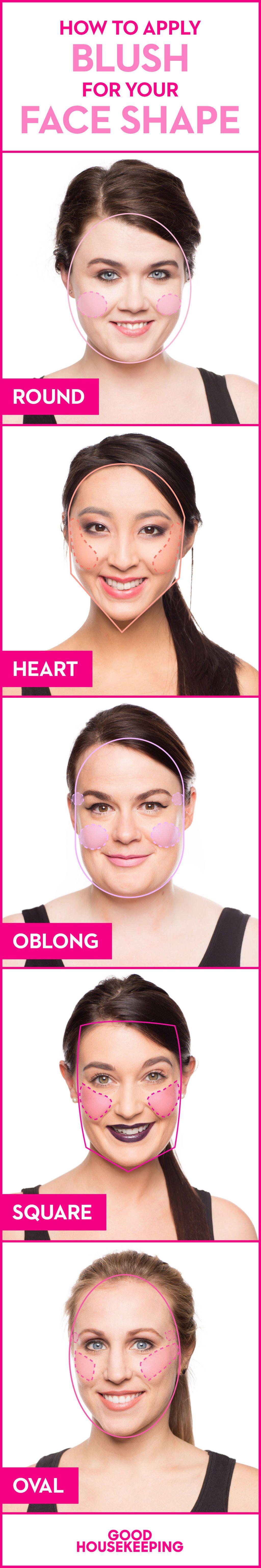 Photo heart shape face makeup tips