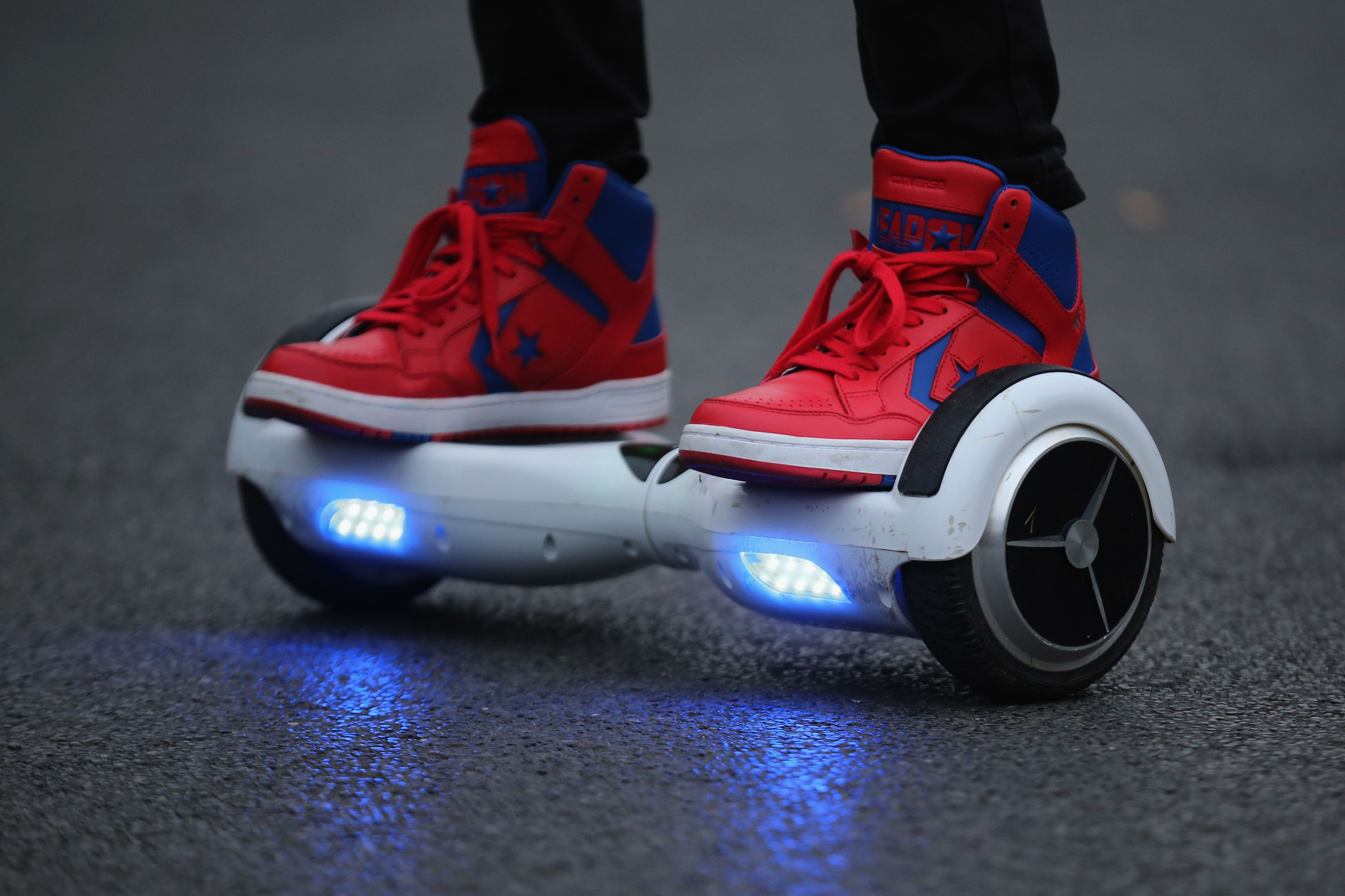 Spinning circle prizes hover boards for kids
