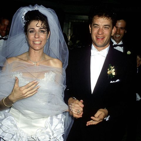 tom hanks and rita wilson - 1988 wedding