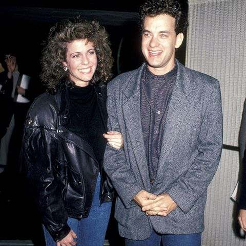 rita wilson and tom hanks - three amigos premiere 1986
