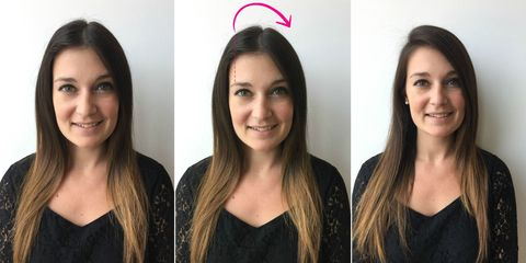 Changing the Part in Your Hair