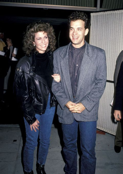 Rita Wilson and Tom Hanks at Three Amigos premiere in December 10, 1986
