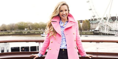 "<p>A pastel peacoat? Love! The traditional sailor style gets a makeover in bubble gum. Later on, swap dark denim for white jeans, but keep the pale blue heels — they'll walk right into the next season.</p><p><em><strong>Coat</strong>, $298, <a href=""http://jcrew.com"" target=""_blank"">jcrew.com</a>. <strong>Blouse</strong>, $268, <a href=""http://katespade.com"" target=""_blank"">katespade.com</a>. <strong>Jeans</strong>, $8, <a href=""http://forever21.com"" target=""_blank"">forever21.com</a>. <strong>Earrings</strong>, $29, <a href=""http://talbots.com"" target=""_blank"">talbots.com</a>. <strong>Ring</strong>, French Connection, $28, <a href=""http://zappos.com"" target=""_blank"">zappos.com</a>. <strong>Heels</strong>, $40, <a href=""http://justfab.com"" target=""_blank"">justfab.com</a>.</em></p><p><em><strong>On location:</strong> <a href=""http://www.thetattershallcastle.co.uk/"" target=""_blank"">The London Eye via PS Tattershall Castle</a></em></p>"
