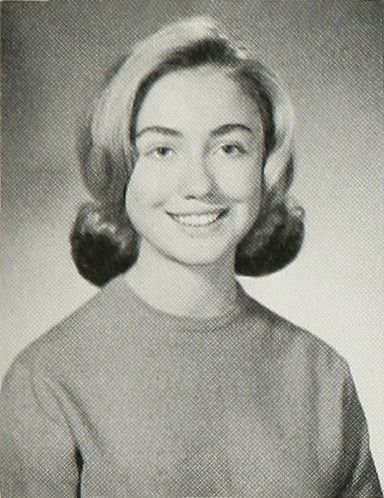 Hillary Clinton yearbook photo