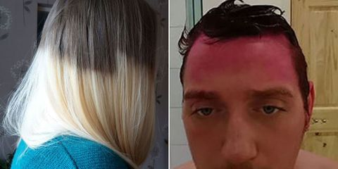 Hilarious hair dye fails funny botched hair dye jobs heading to the salon for a beautiful new color can be tons of fun especially when your hair is impeccably styled and at its peak of perfection at the end solutioingenieria Image collections
