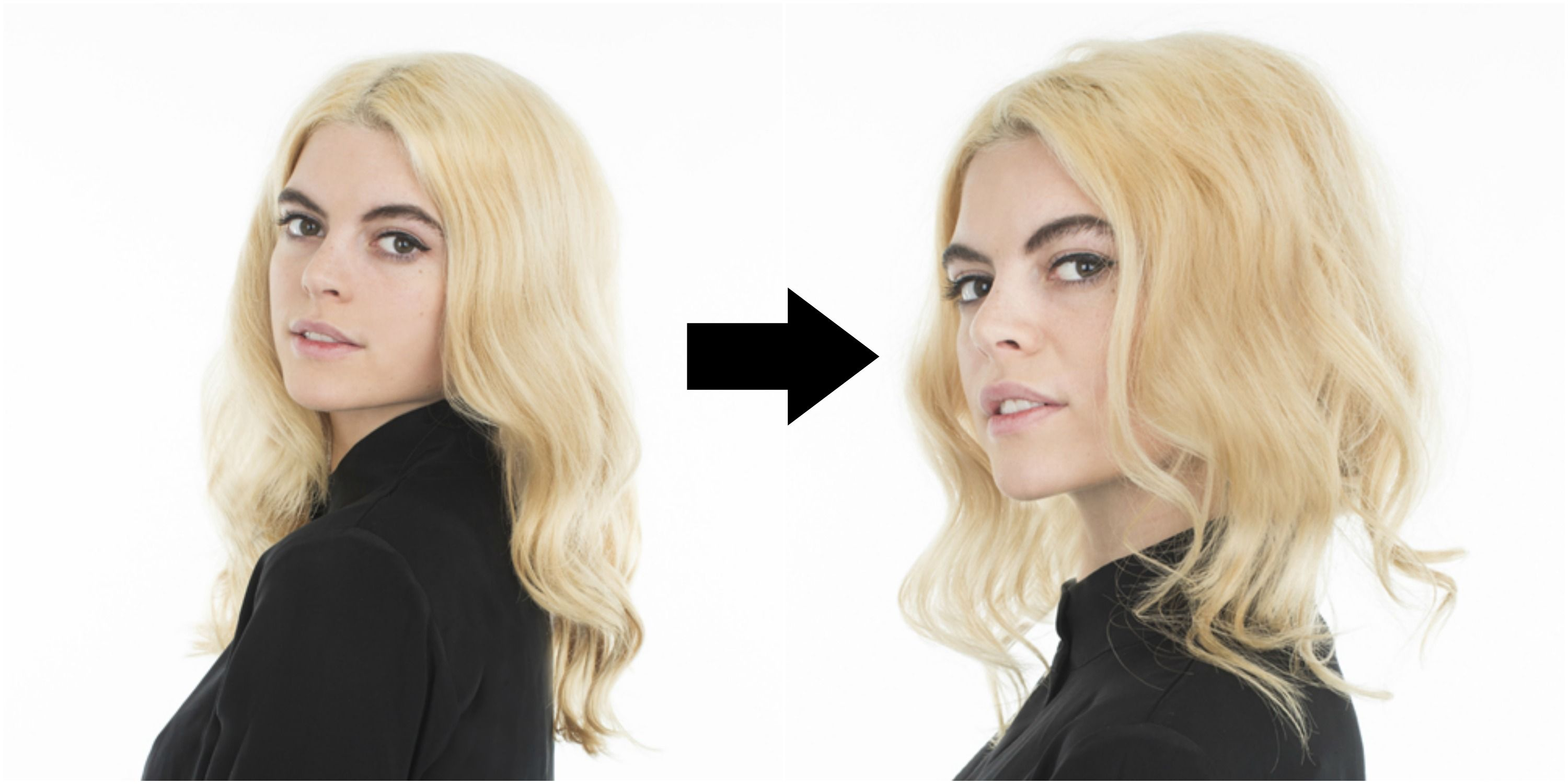 How to Make Hair Look Shorter Without Cutting It — Faux Bob Tutorial