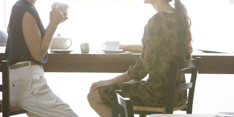 women meeting cafe
