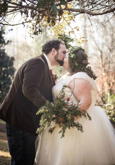 Dress, Bridal clothing, Photograph, People in nature, Bride, Wedding dress, Gown, Romance, Interaction, Tradition,