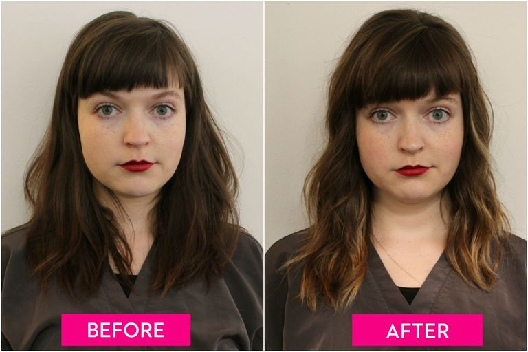 Hair Contouring Makeovers Before And After Highlights Make Hair