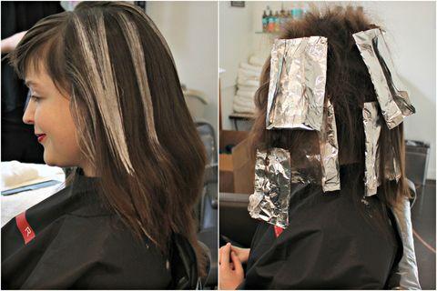 Hairstyle, Eyelash, Step cutting, Long hair, Bangs, Feathered hair, Brown hair, Makeover, Artificial hair integrations, Layered hair,