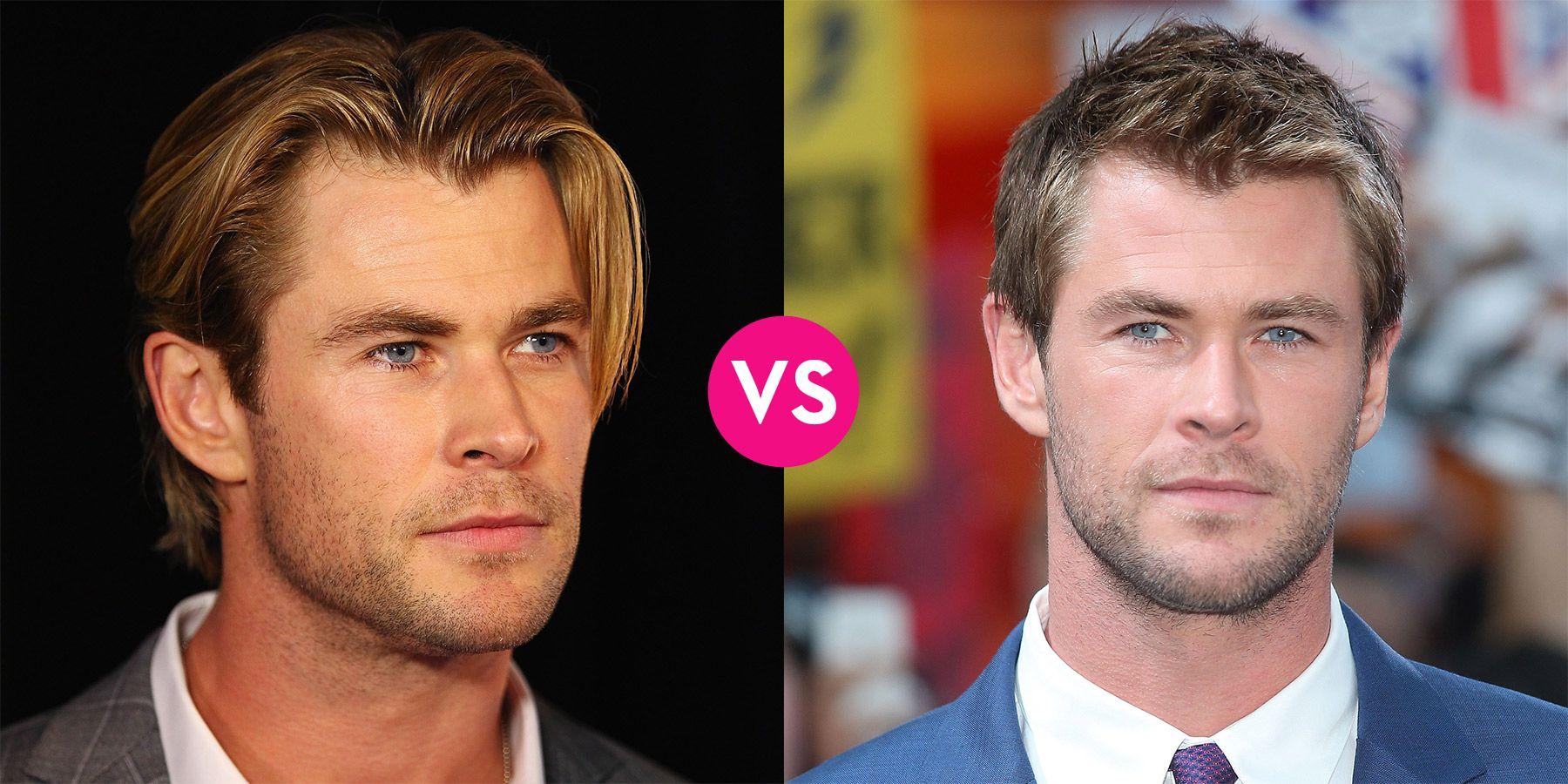 Famous Men With Long Hair vs Short Hair \u2014 Male Celebrity