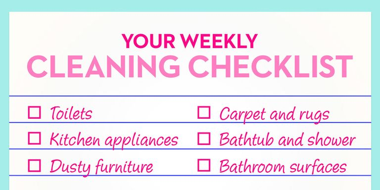 Things You Should Clean Every Week - Weekly Cleaning Chores