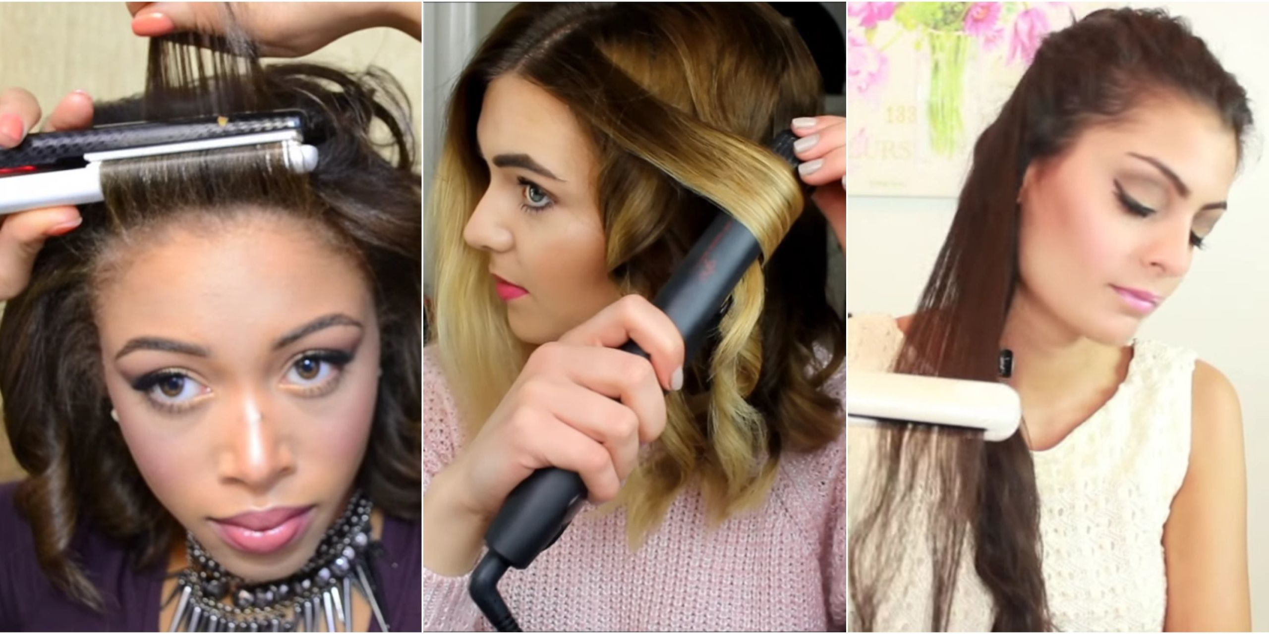 How to curl your hair with a straightener without hairspray